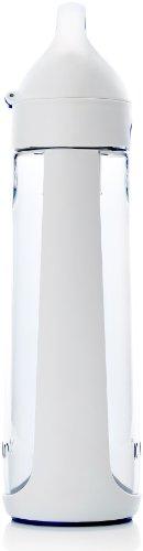 KOR Nava BPA Free 650ml Filter Water Bottle, White/Blue