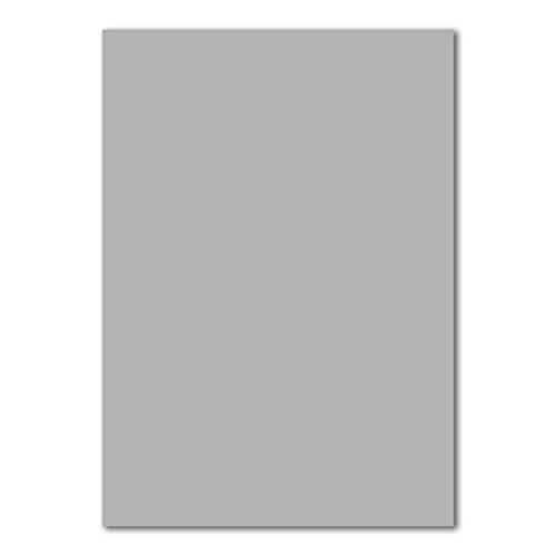 50x DIN A4 Papier Planobogen -Hellgrau - 110 g/m² - 21 x 29,7 cm - Bastelbogen Ton-Papier Fotokarton Bastel-Papier Ton-Karton - FarbenFroh®