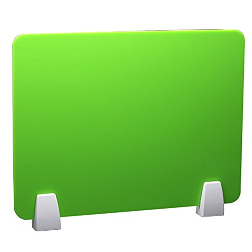 XYEQZ Divisor De Plexiglás Premium, Paneles Acrílicos, Extensiones De Paneles De Cubículo para Negocios Y Escuela,Verde,40x100cm