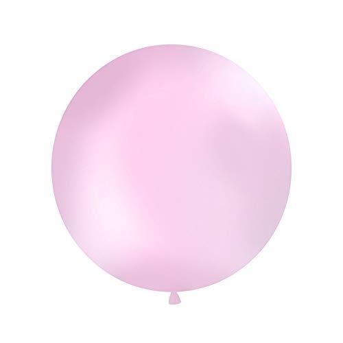 DekoHaus Riesenballons XXL 100 cm Helium Luftballons Farbe wählbar (Pink)