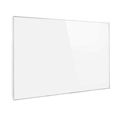 Klarstein Wonderwall Air Infrarotheizung, Carbon Crystal Infrared, IR ComfortHeat, ZeroNoise Infrared, OpenWindow Detection, ideal für Allergiker, Thermostat, 120 x 81 cm, 960 W, weiß