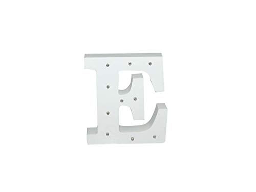 Letra blanca decorativa con luz LED blanca (madera) (E)