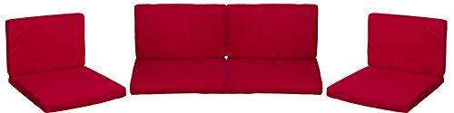 Lounge Premium Sitzkissen Kissenset für Monaco Rattan Gartengruppen rot 8 Kissen 100{a0d7e177c0c97b8f7c4bd8d8bad1e280087d6ccda476b9aa7ded676820311545} Polyester wasserabweisend mit Reissverschlüssen Bezug abnehmbar