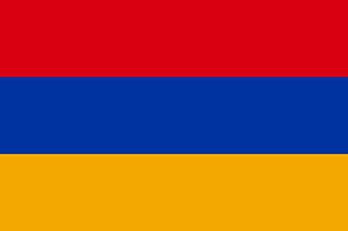 DIPLOMAT Flagge Armenien | Querformat Fahne | 0.06m² | 20x30cm für Flags Autofahnen