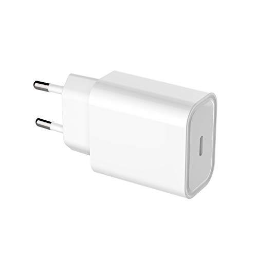 YOISMO Enchufe de Red/Cargador de Pared para teléfono móvil USB-C de Carga rápida de 20 W, Cargador Compatible con iPhone 12 / 12min / 12Pro / 12Pro MAX