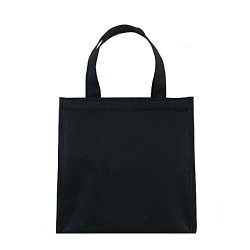 Qeujhkal Bolsa para el almuerzo con aislamiento simple para hombres y mujeres, bolsa de almuerzo gruesa de aluminio con arroz, adecuado para viajes Scholl, tamaño: 25 x 16 x 35 cm (color negro)