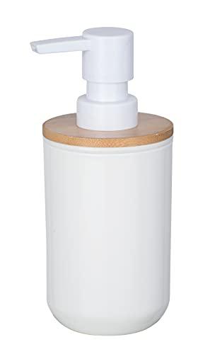 WENKO Dosificador de jabón Posa blanco - Dispensador de jabón líquido...