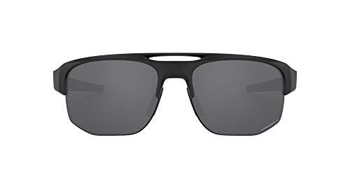 Oakley Men's OO9424 Mercenary Rectangular Sunglasses, Matte Black/Prizm Black Polarized, 70 mm