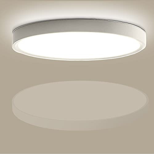 Kimjo LED Lámpara de Techo 24W, Blanco Neutro 4500K 2160LM Plafón de Techo Redondo Ø23cm Plafones de Techo Modernos, Iluminación de Techo para Oficina Cocina Dormitorio Habitaciones, No Regulable
