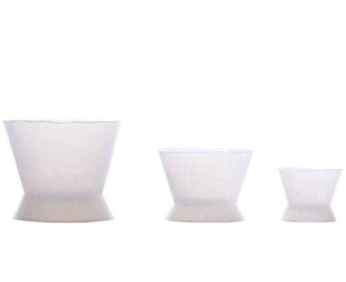 3piece Flexible Dental Lab Silicone Mixing Cup Acrylic NonStick Bowl Dappen Dish