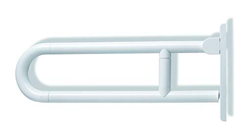 HEWI Stuetzklappgriff drehbar Serie 801 L:700mm reinweiss 801.50.110 99