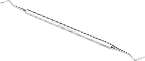 REMOS Fußpflege Instrument Eckenheber rostfreier Edelstahl [gerade Spitze] zum Ausputzen und Entfernen von Ablagerungen unter dem Nagel