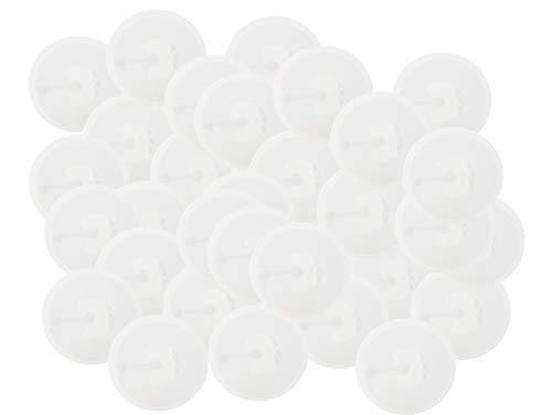 NFC Tag Sticker-Aufkleber 215 wie u. a. in Amiibo Figuren, 50 Stück in 30 mm weiß, kompatibel mit Allen NFC-fähigen Smartphones, NXP NFC Chip NTAG 215