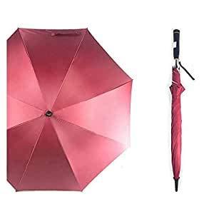 VIDHYUTPRERAN ELECTRICALS Men's and Women's Polyester No-Fold Semi Automatic Open UV Protected Umbrella with Fan (Multicolour, 48-inch)
