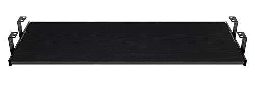 FIX&EASY Guide scorrevoli con ripiano 800X400mm texture dekoro legno frassino nero per porta-tastiera cassetto, staffa per binario scorrevole nero 400mm, estraibili per tastiera mouse e laptop