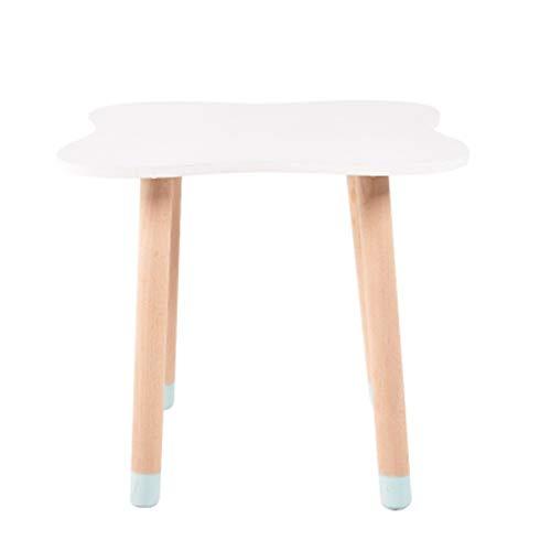 Student Desk bureau voor kinderen eettafel balkon salontafel massief hout thuis tafel eenvoudige installatie, kunst stijl tafel wit ideale begeleider voor uw kinderen