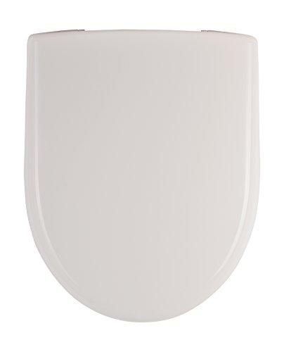 Keramag (Geberit) 573010000 WC-Sitz Renova Nr. 1, mit Deckel Scharniere: Edelstahl, weiß, 1-573010
