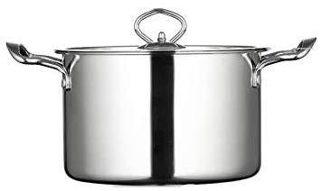Roestvrij staal Stockpot Kookgerei met Staal Deksel Huishoudelijke Canning Pot Oven Veilige Kwaliteit Voorraad Pot Totaal Nonstick Soep Pot