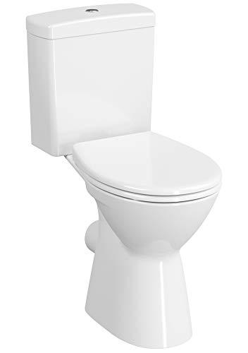 Pack WC surélevé Ancoswing 2 - Anconetti - Abattant duroplast - Blanc