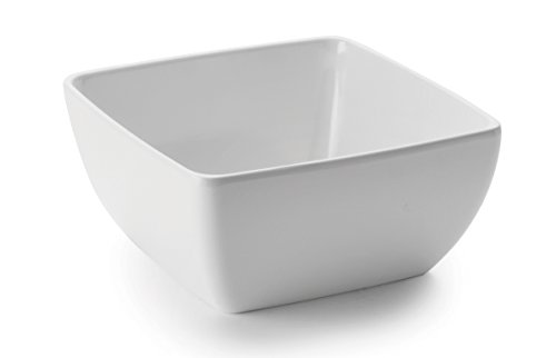 LACOR Salatschüssel, Melamin, klassisch 24 x 24 x 12 cm weiß
