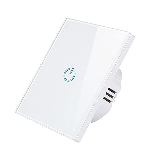 Joliy Interruptor de Sensor táctil WIFI montado en la pared 220V Tuya App Control remoto EU RF433 WIFI Interruptor de luz de hogar inteligente Temporizador para Alexa