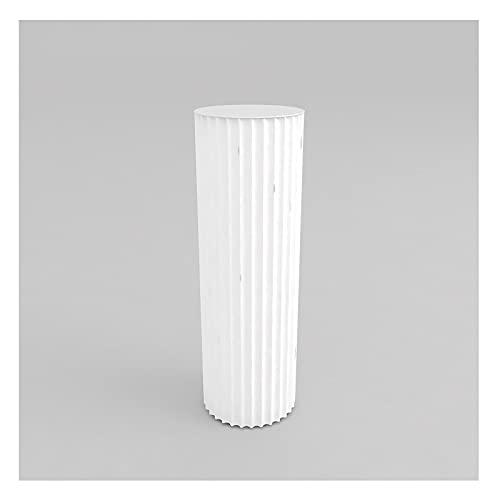 Cubo de exhibición cilíndrica, soporte de exhibición de almacenamiento de acabado de patrón de onda blanca para ropa de bolso de tacón alto Ropa Pote de flores Soporte de escaparate ( Size : Large )