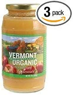 Vermont Village Cannery Applesauce, Og, Unsweetened, 24-Ounce (Pack of 3)