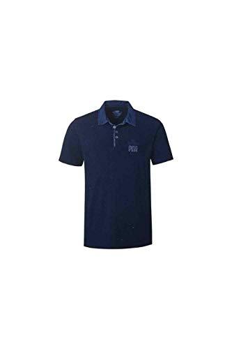 Pioneer Herren Poloshirt Art. 4109, Kurzarm, Knopfleiste, Marine Blue