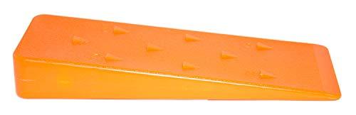 HKB ® 1 Stück Fällkeil 205x70mm, Stärke 30 / 3mm aus Polypropylen (PP), mit Widerhaken in Signalfarbe Orange, Gewicht 230 Gr, Hersteller Greentech (Veto), Artikel-Nr. 51239