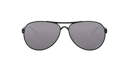 Oakley Pulido Negro Negro Prizm REACCIÓN polarizadas gafas de aviador