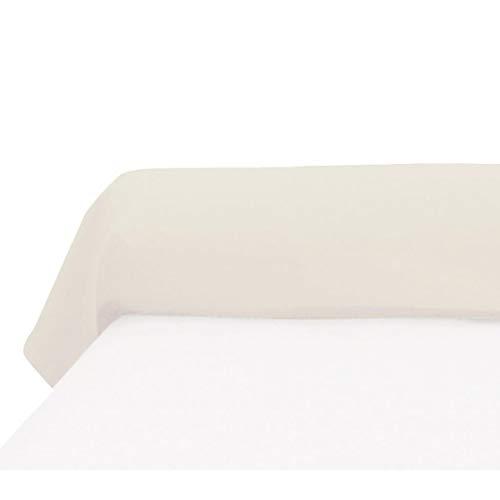 Soleil d'ocre Funda de travesaño 45x135 cm, de algodón, 57 Hilos, cruda