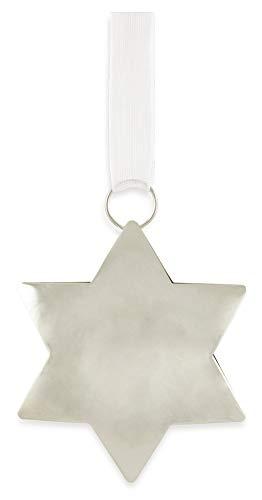 Riffelmacher 71322 Lot de 10 décorations de Noël en forme d'étoile en métal Argenté 6 cm