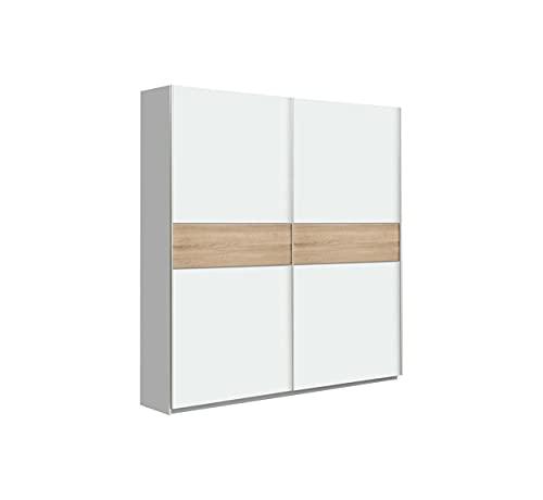 CAMBIA TUS MUEBLES - Armario ropero Winter. Armario para Dormitorio con Puertas correderas. (120 x 210 cm, White)