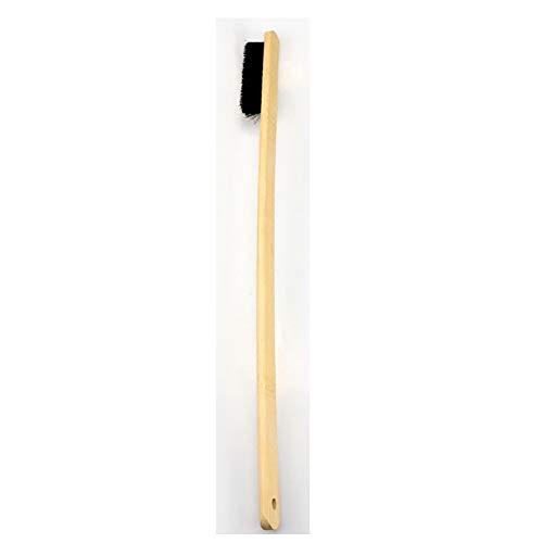 TEEKOO 1 unids Cepillo de Limpieza de llanta de Coche Cepillo de Limpieza de llanta de Motor Cepillo de Limpieza de cerdas Naturales Mango Largo de bambú Auto Detallado Herramientas limpias