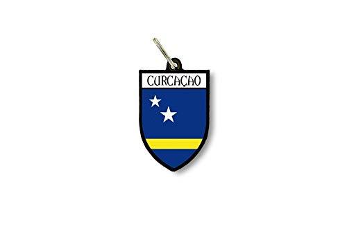 Sleutelhanger Sleutelhanger Ring Vlag Nationale Souvenir Schild Curaçao