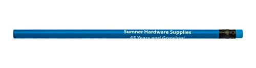 Pencil Guy Promotional Personalized Imprinted Neon Round Pencils Neon Blue 144 to a Box