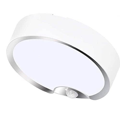 YepYes Luz de Techo del Sensor de Movimiento LED de la batería Cool Powered Blanca lámparas de Noche con Sensor de luz para el sótano Escalera Pasillo de lavandería