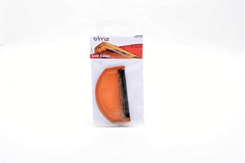 Trimz Fusselkamm, Orange, 8 x 5 x 0,5 cm