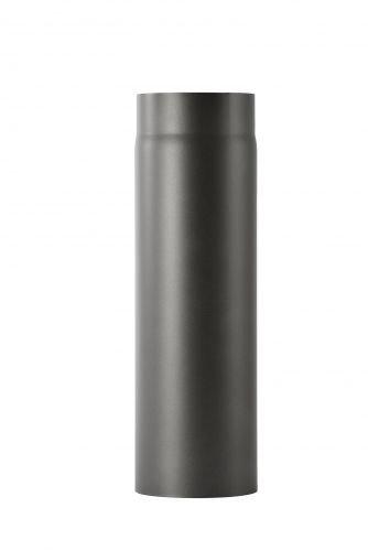 Kachelpijp van 2 mm dik staal (rookkanaal) in 130 mm diameter, voor kachels en haarden, Senotherm, zwart, 500 mm lang