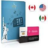 T-Mobile Prepaid SIM-Karte für die USA- Tethering (nur in den USA)! Null Roaminggebühren! 50GB, 5GB in Kanada/Mexiko, UNBEGRENZTE Anrufe & Texte gültig für 10 Tage