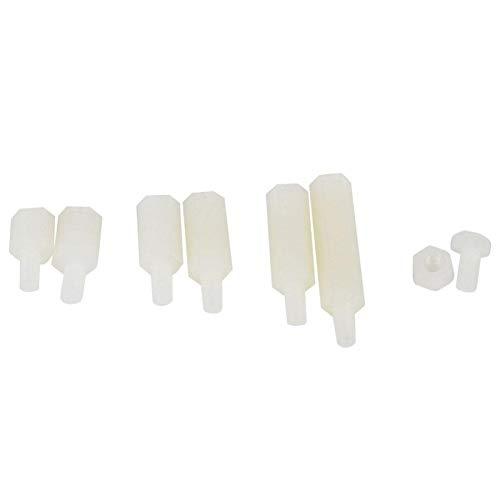Kit surtido de combinación de separadores macho-hembra 180 piezas Tuerca de tornillos de cabeza para Drone(180 pieces/box of white M3 nylon screws)