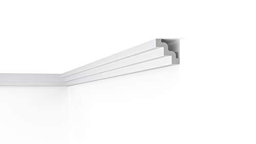 Cornisa/Moldura decorativa techo blanca NMC NOMASTYL® ST3 75X75X2000mm Poliestireno 10 metros