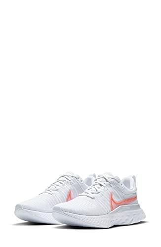 Nike W React Infinity Run FK 2, Zapatillas para Correr Mujer, Pure Platinum BRT Crimson Sunset Pulse Football Grey White, 38 EU