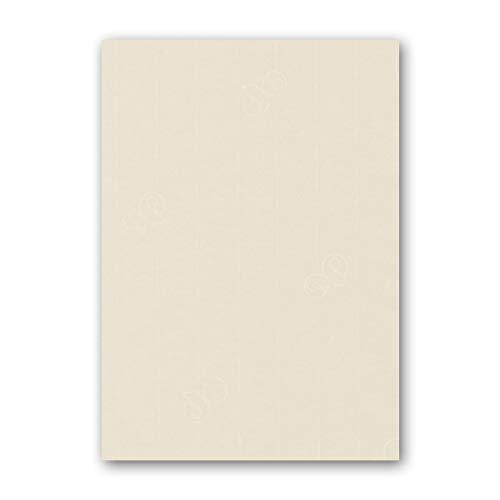 ARTOZ 50x Briefpapier - Chamois DIN A4 297 x 210 mm - Edle Egoutteur-Rippung - Hochwertiges Designpapier Urkundenpapier