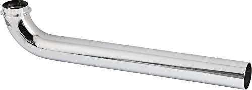 Cornat Abgangsrohr 90° - 1 1/4 Zoll x 32 mm - 300 mm Länge - zur Verbindung des Abwasseranschlusses - Metall verchromt - Pflegeleicht & korrosionsbeständig / TEC318205