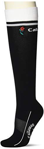 [キャロウェイ] [レディース] ハイソックス 防菌防臭 (機能素材ドラロン) / 241-1193807 / 靴下 ゴルフ 010_ブラック FR