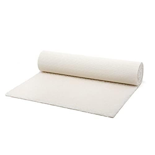 bodhi | Schurwoll-Yogamatte | Natur Wolle | Schurwollmatte | 100% Schafschurwolle (1200 g/m²)| Weich & Isolierend | VISHNU 75 | 200 x 75 cm