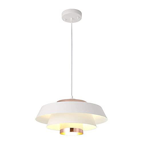 HLY Luci per soggiorno, lampadari per scale in stile nordico post-moderno, lampada a sospensione semplice moda creativa, plafoniera in ferro per hotel ristorante soggiorno, nero,bianca