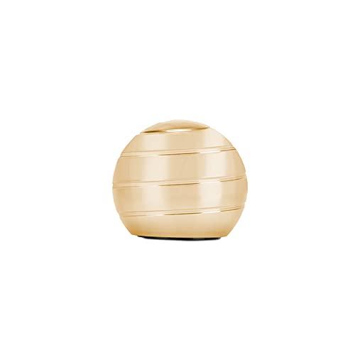 CaLeQi Kinetic Schreibtischspielzeug Office Metal Spinner Ball Gyroskop mit optischer Täuschung für Anti (Golden, Durchmesser: 38 mm)