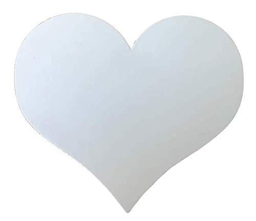10er Pack - Magnetherzen für das Auto - Auto Schmuck für Hochzeit oder Valentinstag (Weiß matt) (Weiß Matt)